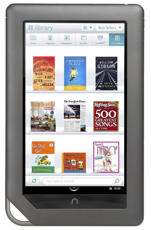 Nook, bestseller od Barnes and Noble, oparty o Androida