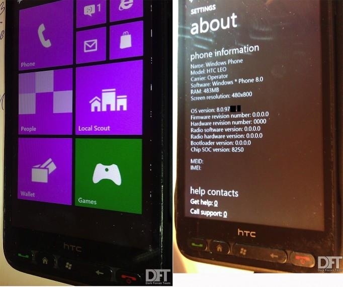 HTC HD2 z nieoficjalnym portem Windows Phone 8