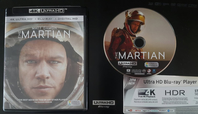 Film Marsjanin na Blu-ray Ultra HD 4K