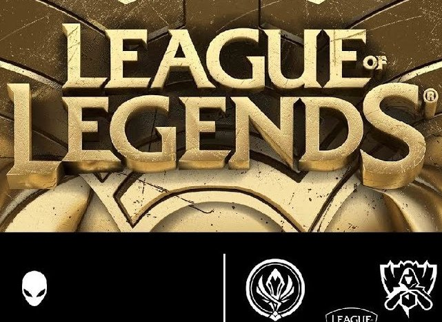 logo League od Legends; logo Alienware