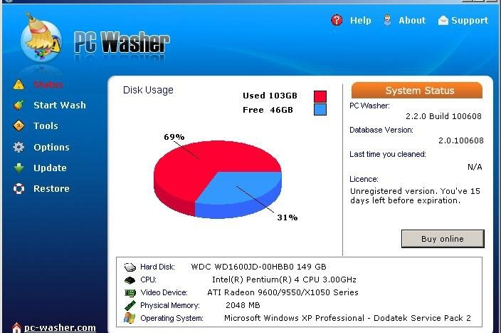 PC Washer 2.2.0